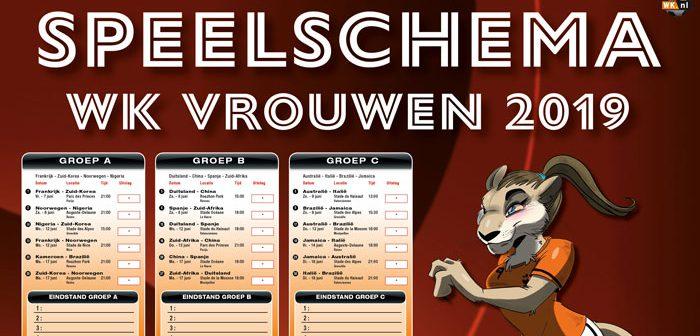 WK speelschema poster header
